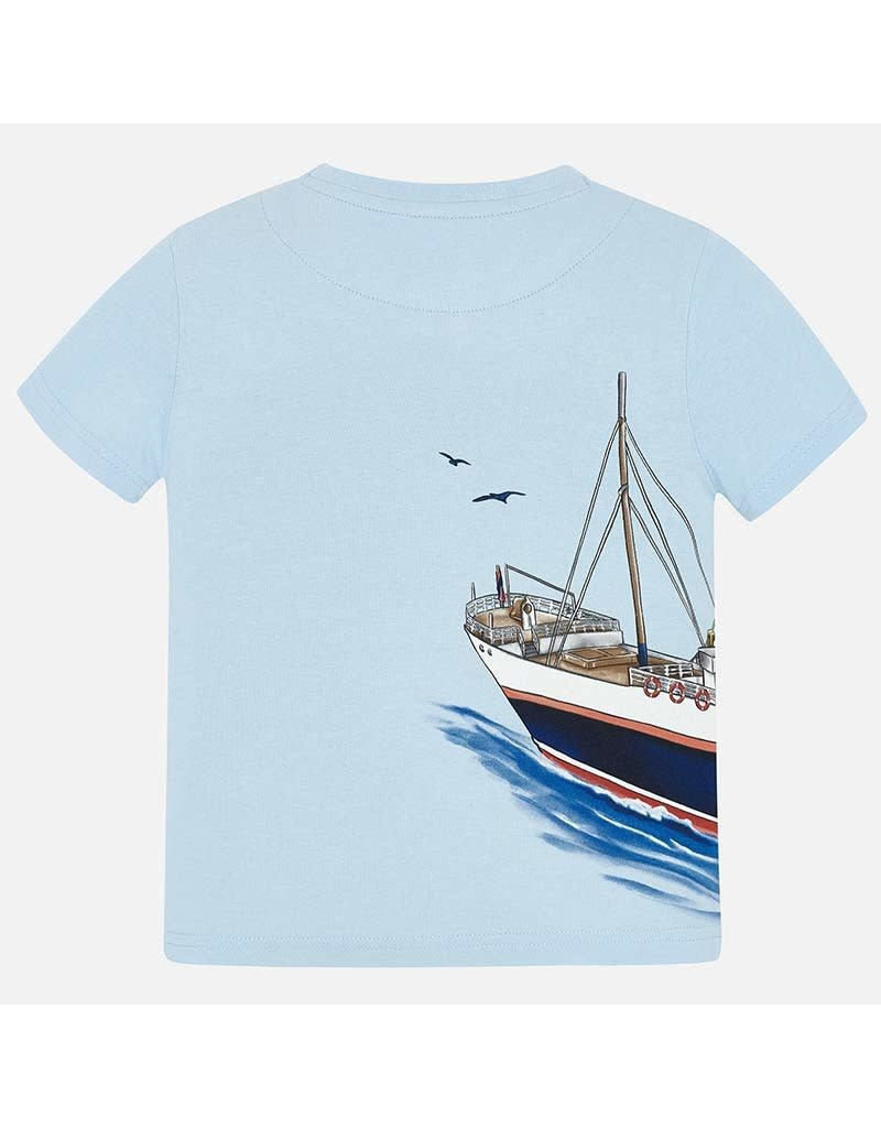 Tee, Boats, Lt Blue or White