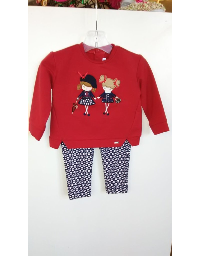 Shirt w/Legging, Girls Applique,