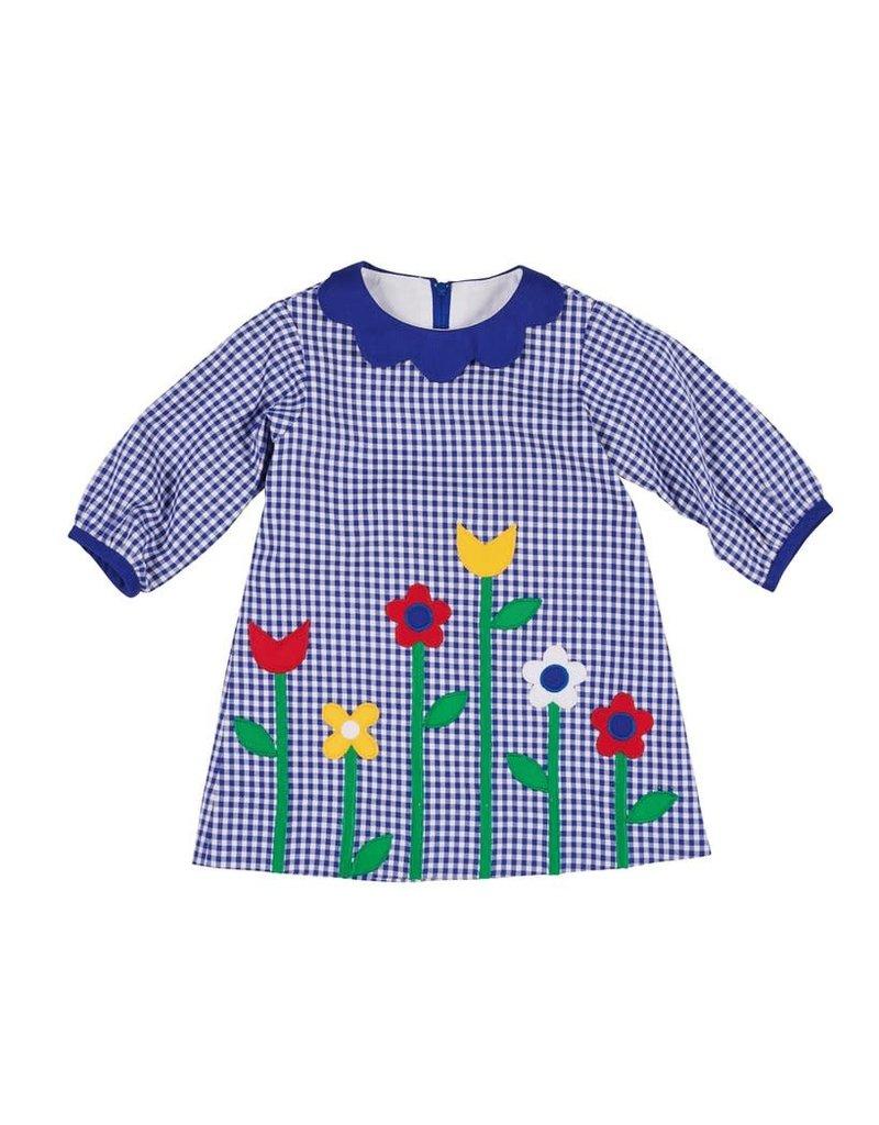 Dress, Check w/Flowers,