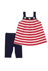 Top w/Capris, Red/White/Navy,