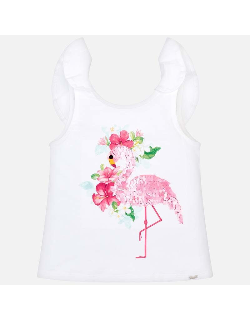 Tee w/Shorts, Flamingo,
