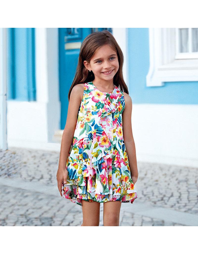 Dress, Floral Voile Dress,