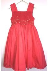 Luli & Me Dress, Smocked, Persimmon,