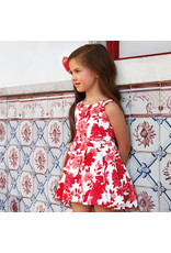 Dress w/Bolero, Fit N Flare, Red Floral,