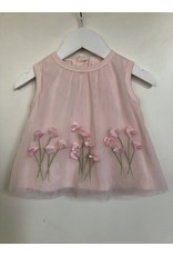 Biscotti/Kate Mack Dress w/Bloomers, Pink Flower Bouquets,