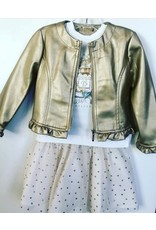 Jacket/Tee/Skirt, Gold,