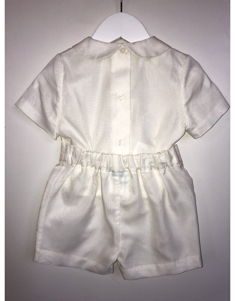Luli & Me Shortall, Silk Organza, Tucks/Dot,