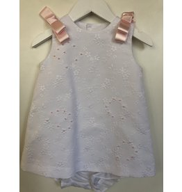 Luli & Me Dress w/Bloomers, Pique w/Bows,
