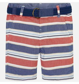 Shorts, Stripe, Orange/Blue,