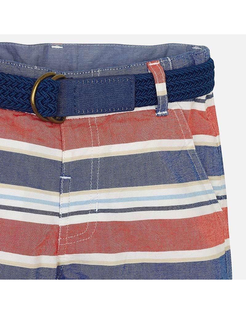 Shorts, Stripe, Orange/Blue,