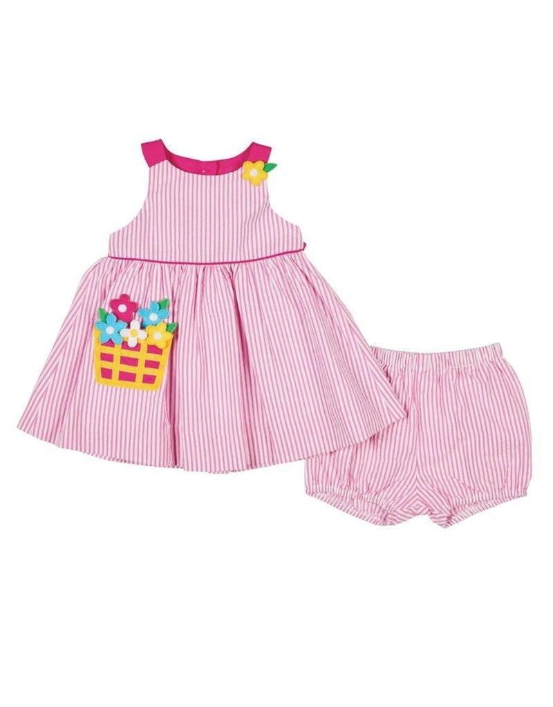 Dress w/Bloomers, Flower Basket,