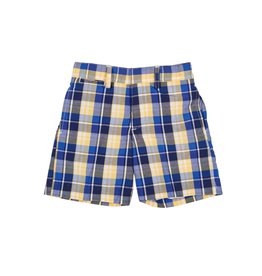 Shorts, Plaid, Blue/Yellow,
