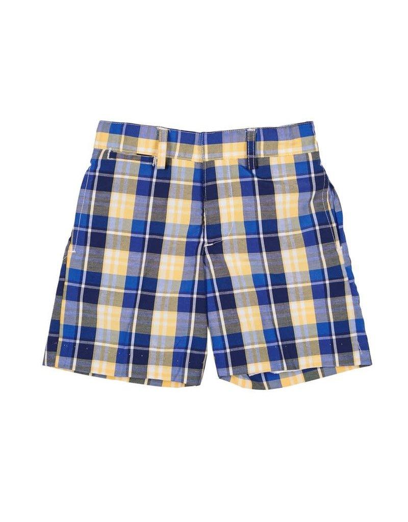 Shorts, Plaid, Blue/Yellow,
