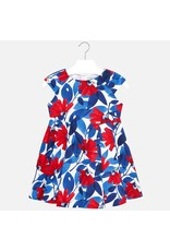 Dress, Red/Blue Floral,