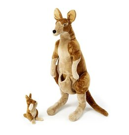 Kangaroo w/Joey, Plush, Large