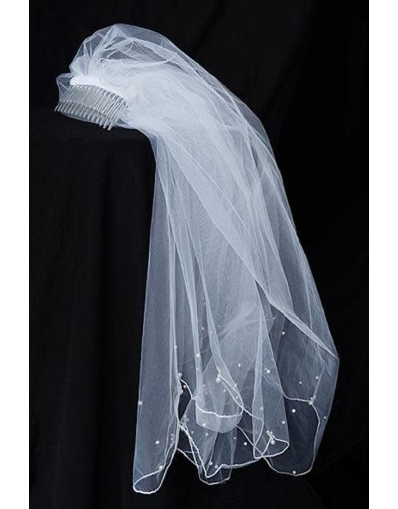 Veil, Scattered Pearls w/Comb