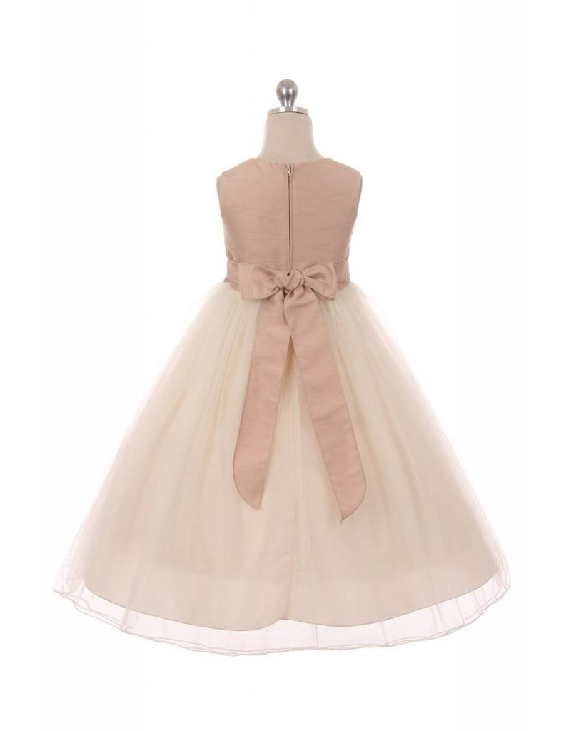 Dress, Satin Bodice w/Tulle Skirt