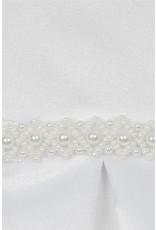 Dress, Satin, Box Pleat Skirt, Pearl Waist