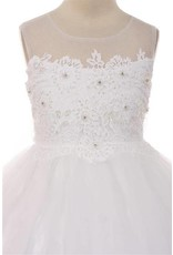 Dress, Tulle, Lace Insets, Pearls