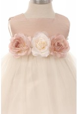 Dress, Satin Bodice w/Tulle Skirt Vintage Rose, Infant