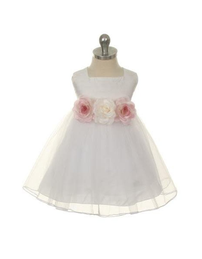 Dress, Silk Bodice w/Tulle Skirt, Infant, KD135B