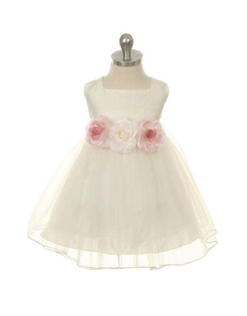 Dress, Silk Bodice w/Tulle Skirt, Infant