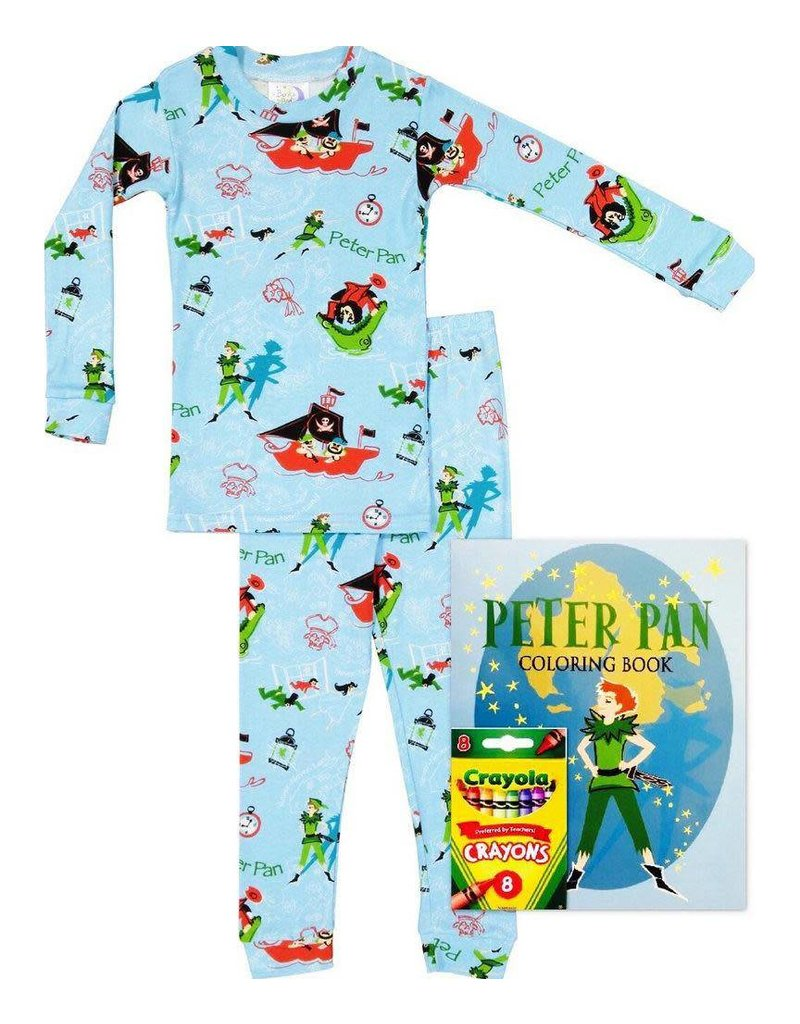 Pajamas w/Book, Blue, Peter Pan