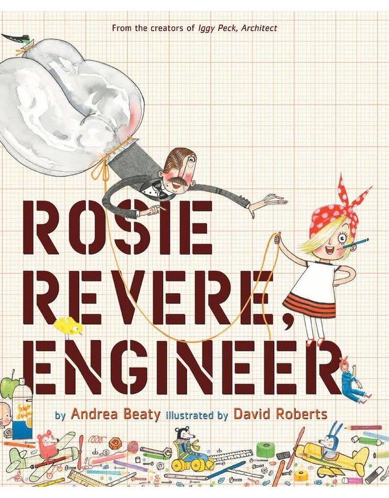 Pajamas w/Book, Pink, Rosie Revere The Engineer,