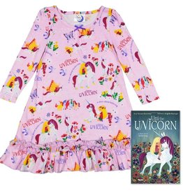 Nightgown w/Book, Lavender, Uni The Unicorn,