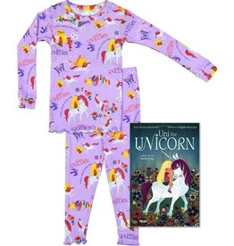 Pajamas w/Book, Lavender, Uni The Unicorn,