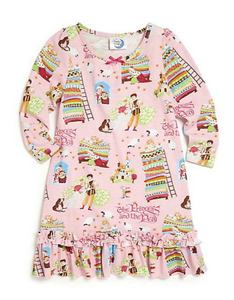 Nightgown w/Book, Pink, Princess and The Pea,