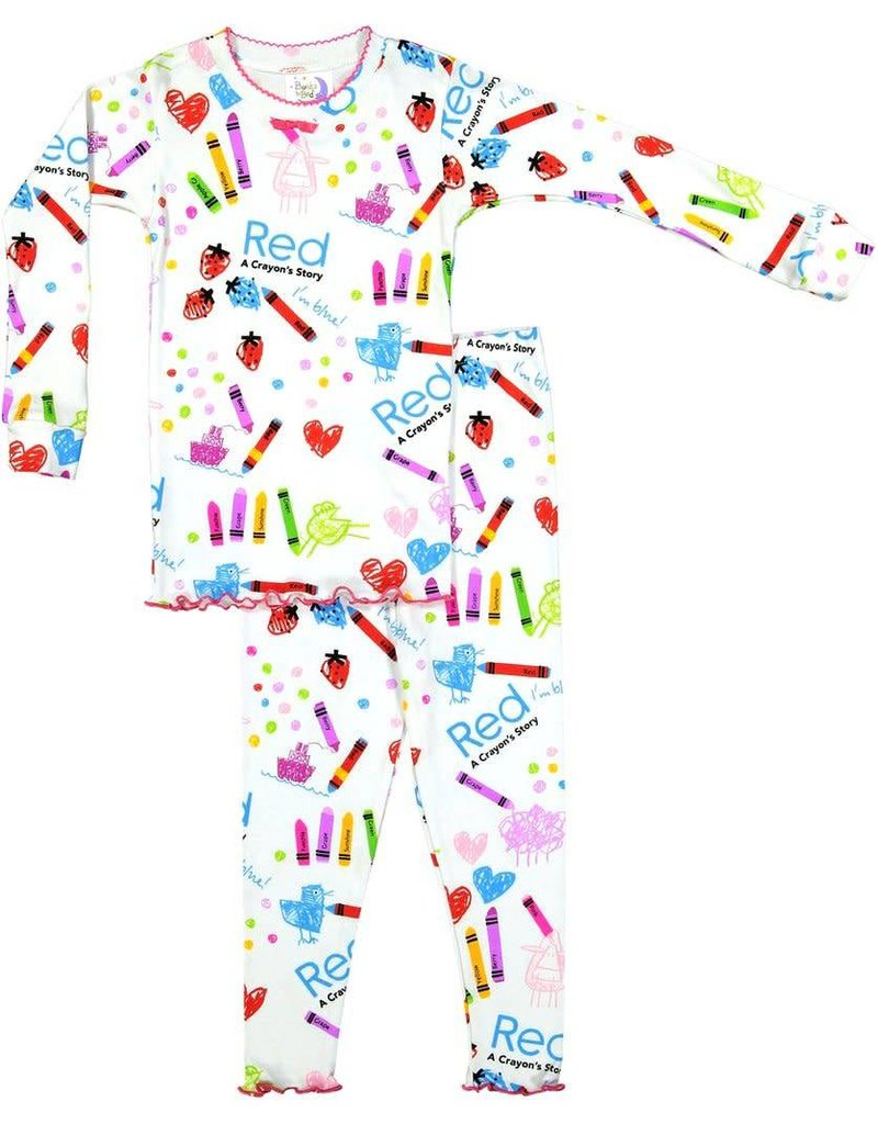 Pajamas w/Book, White, Red: A Crayon Story,