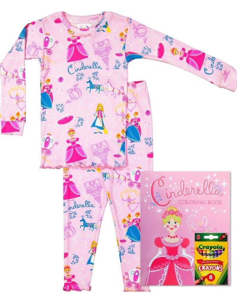 Pajamas w/Book, Pink, Cinderella,