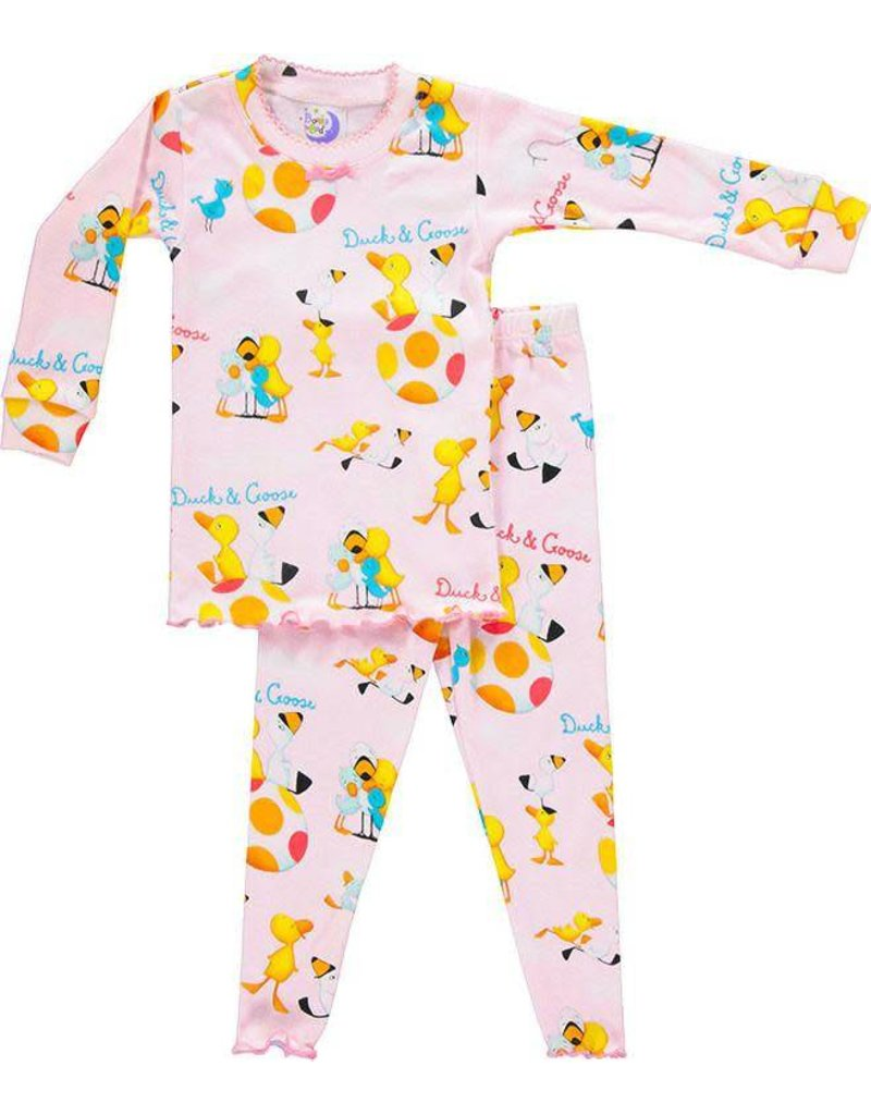Pajamas w/Book, Pink, Duck and Goose,