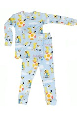 Pajamas w/Book, Blue, Duck and Goose,
