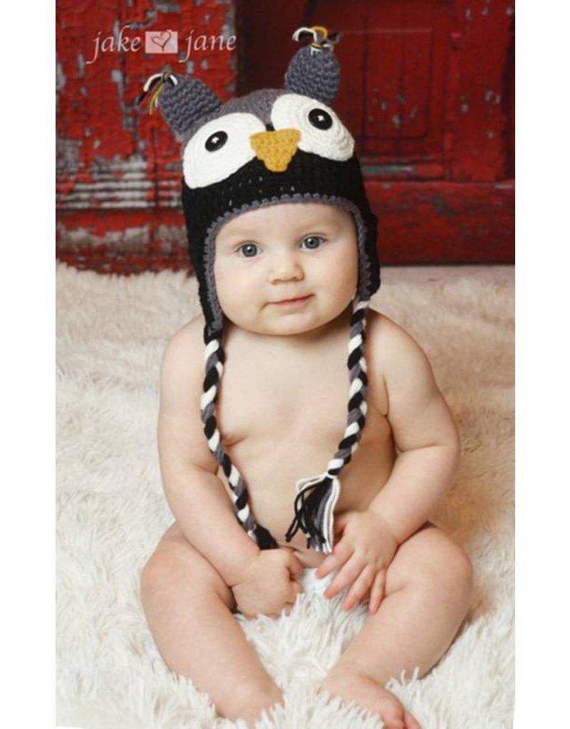 Hat, Aiden, Crocheted Owl