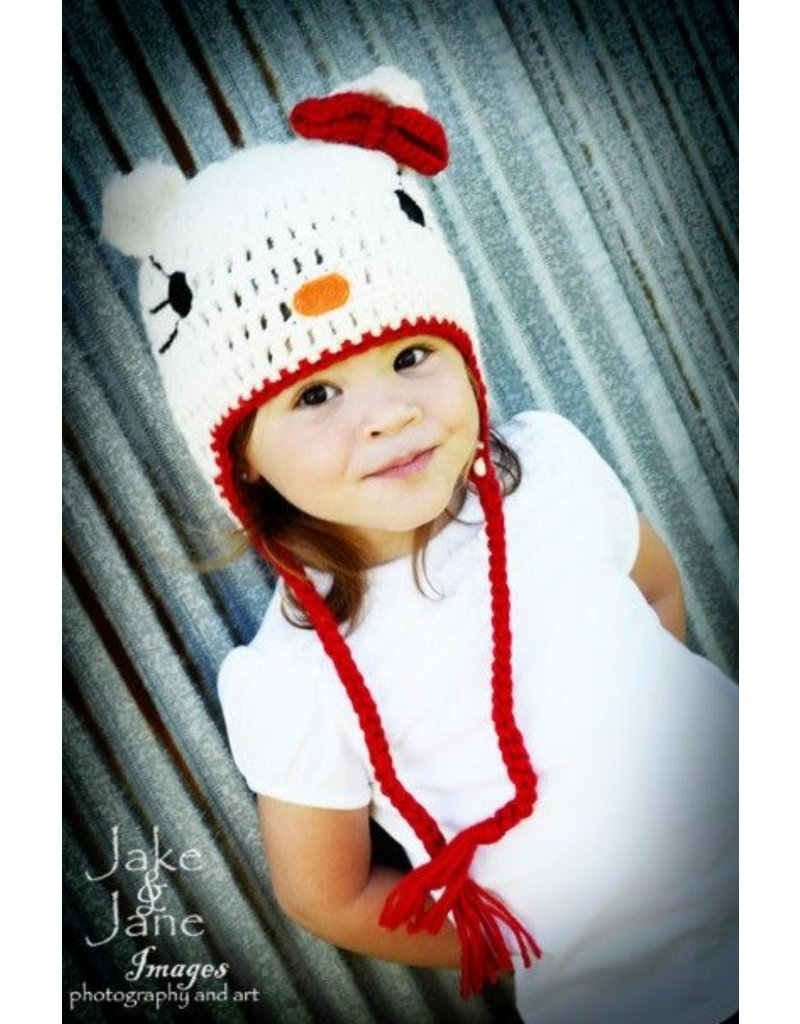 Hat Jane Hello Kitty Crocheted Hollyhocks Childrens Boutique