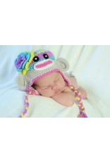 Hat, Jewels Sock Monkey, Crocheted