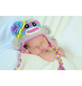 Hat, Jewels Sock Monkey, Crocheted
