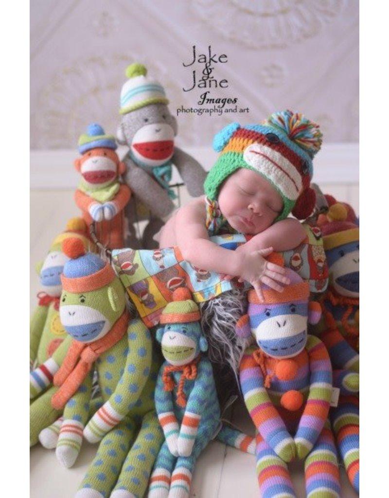 Hat, Jojo Sock Monkey, Crocheted