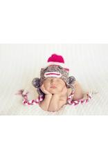 Hat, Lulu Sock Monkey, Crocheted