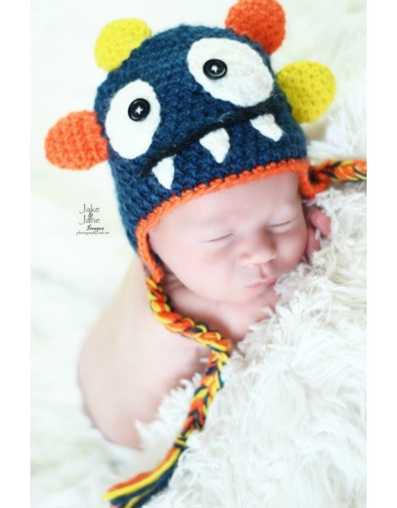 Hat, Rowdy the Monster, Crocheted