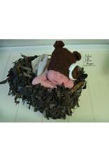 Hat, Mazee, Knubby Yarn, Crocheted