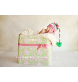 Hat, Mila, Elf Style, Green/Pink/White