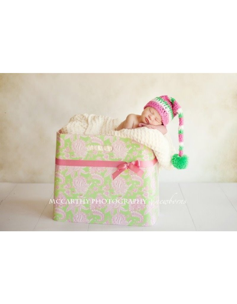 Hat, Mila, Elf Style, Green/Pink/White