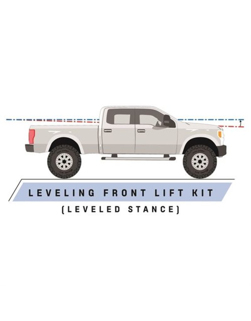 Pro Comp Suspension Pro Comp Suspension -Leveling Kit Suspension; 2.25 Inch Lift; Strut Assembly Extension