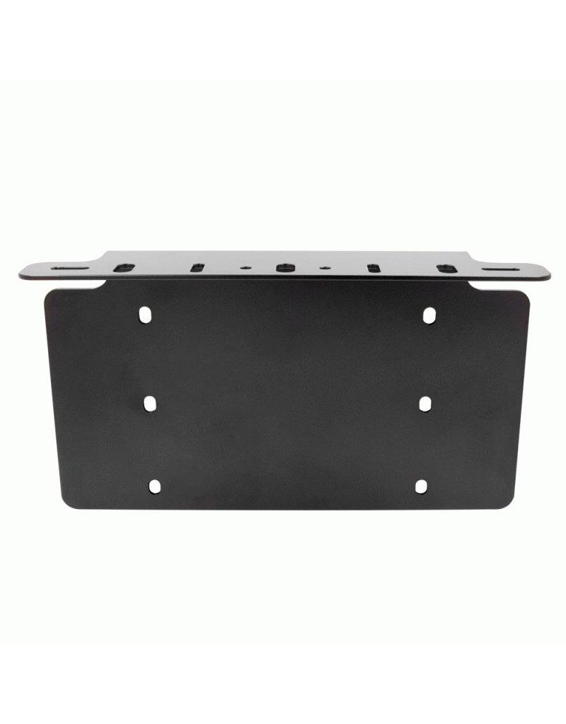 Heise Heise- License Plate Mount-For Us Market - Mounts A Cube, Work Or Driving Light -HE-FLPUS