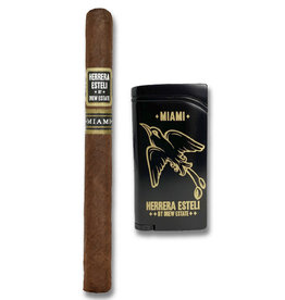 Drew Estate Herrera Esteli  Miami Lonsdale Lighter Combo