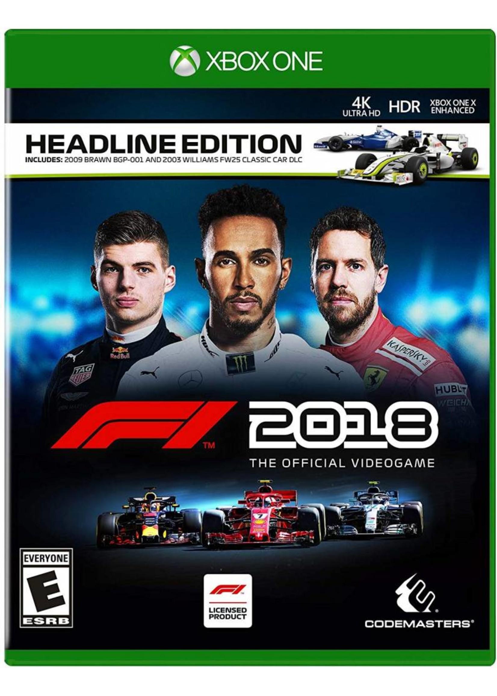 F1 2018 Headline Edition - XBOne NEW