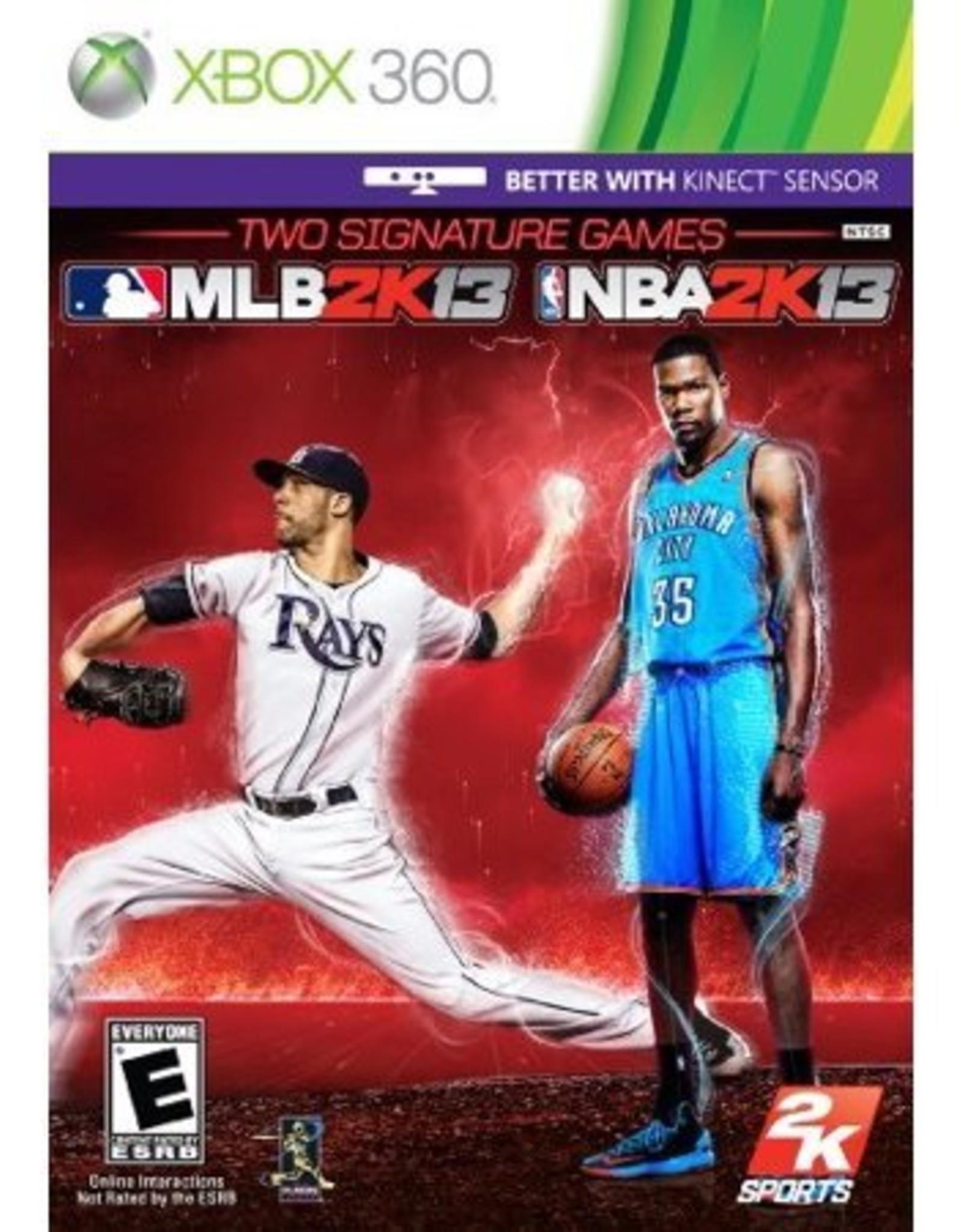 MLB 2k12 + NBA 2K12 Combo Pack - XB360 PrePlayed